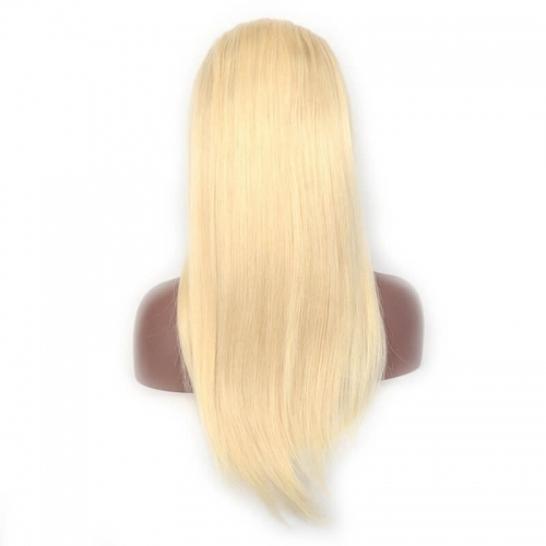 #613 Real Human Hair 360 Lace Frontal Lace Wig Peruvian Lace Frontal Platinum Blonde Wig