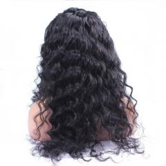 Full Lace Wigs With Silk Top Human Hair Deep Curly With Baby Hair Natural Hair Line For Black Women