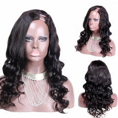 African American Body Wavy Vietnamese Virgin Human Hair U Part Wigs For Sale Uk 8-24 in stock