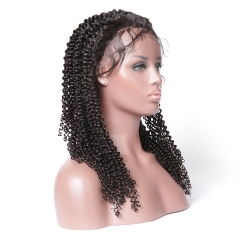 Kinky Curly Glueless Full Lace Wig Lace Front Wig 100 Brazilian Human Hair