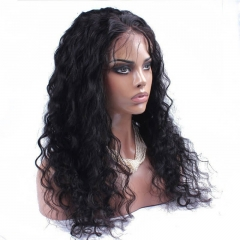250% High Density Human Hair Lace Front Wigs Deep Curly with Baby Hair Natural Hair Line for Black Women