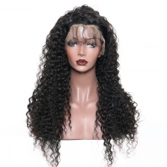 250% Density Wig Deep Wave Malaysian Lace Wigs with Baby Hair for Black Women Pre-Plucked Natural Hair Line