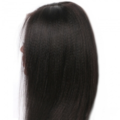 Light Yaki Straight 250% Density Lace Front Wig with Baby Hair Malaysian Virgin Hair Full Lace Human Hair Wig