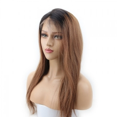 1BT30# Full Lace Wig Brazilian Virgin Human Hair Natural Hairline with Baby Hair