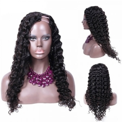 U Part Wigs For Sale Loose Wavy Brazilian Virgin Human Hair 8-24 in stock