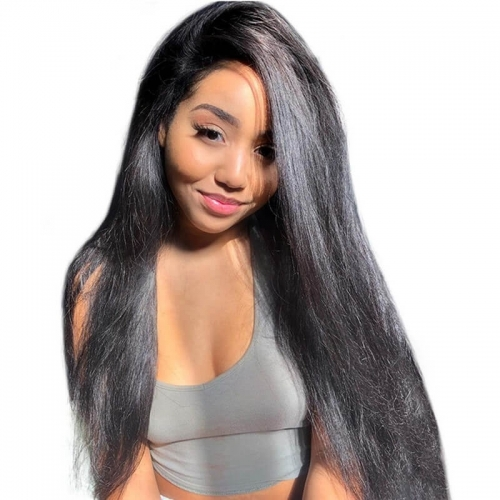Lace Front Human Hair Wigs With Space Glueless Malaysian Lace Wig 150% Density Non-Remy Hair Wigs For Black Women