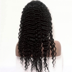 Full Lace Silk Base Wigs Deep Wave Pre-Plucked Natural Hair Line Malaysian Lace Wigs With Baby Hair For Black Women