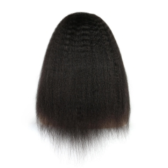 Kinky Straight 250% Density Wigs Glueless Full Lace Human Hair Wigs Natural Hair Line for Black Women