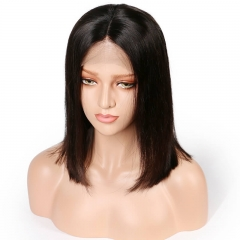 Blunt Cut Bob African American Human Hair Bob Wigs Lace Front Short Bob Style Lace Wigs For Black Women