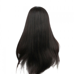 250% Density Malaysian Virgin Hair Light yaki Lace Front Wig with Baby Hair Full Lace Human Hair Wig