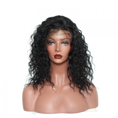 360 Lace Frontal Wig 180% Density Loose Curly Wave Dark Brown Hair Color Brazilian Virgin Remy Human Hair 360 Lace Wig Pre Plucked with Baby Hair