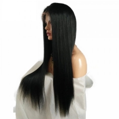 Brazilian Hair Silky Straight Full Lace Wigs Free Part For Women Glueless 13x6 Lace Front Human Hair Wigs Pre Plucked Baby hair Natural Hairline 130 D