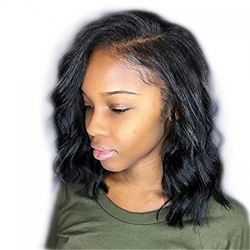 Free Part Lace Front Wigs Grade 8A Peruvian Human Hair Glueless Wavy Wigs 180 Density