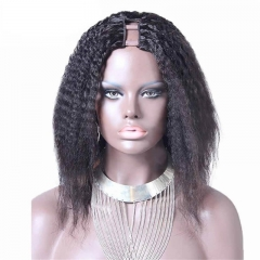 Peruvian Virgin Human Hair U Part Wigs kinky Straight 8-24 in stock