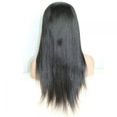 250% Density Coarse Yaki Lace Front Human Hair Wigs Brazilian Kinky Straight Lace Wig Full Lace Human Hair Wigs