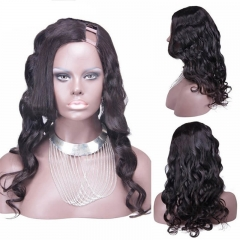 "#2 Loose Wavy Peruvian Virgin Human Hair U Part Wigs Cheap 8-24"" in stock"