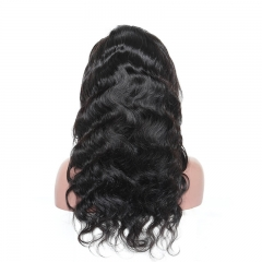 360 Lace Wigs Peruvian 180% Density 100% Virgin Human Hair Wigs Circular Full Lace Wigs Body Wave Natural Hair Line Wigs