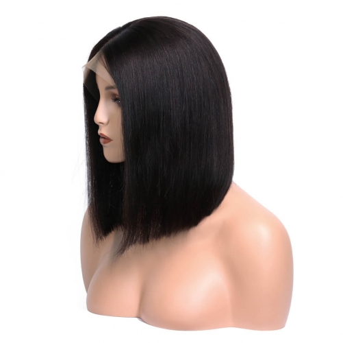 360 Lace Wigs BOB Style Full Lace Wig  Short Straight 180% Density Brazilian Virgin Hair