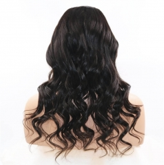 "4.5"" Super Deep Middle Part Lace Front Wigs Bleached Knots With Baby Hair For Black Women Human Hair Loose Wavy Unprocessed Cheap Virgin Peru"