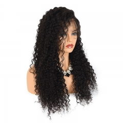 250% Density Deep Curly Full Lace 7A Brazilian Human Hair Wigs Lace Front Human Hair Wigs