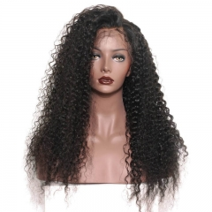300% Density African American Lace Front Wigs For Women Brazilian Curly Human Hair Lace Wig Pre Plucked Full Ends