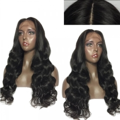 Glueless Silk Top Lace Wigs Pre-Plucked Body Wave Full Lace Wigs Human Hair With Baby Hair For Black Women Natural Hair Line