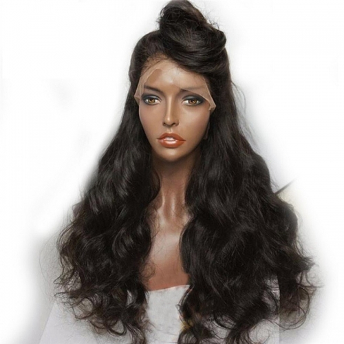 Deep Part Lace Front Brazilian Wigs 150% Density Remy Unprocessed Wet and Wavy Wigs With Baby Hair