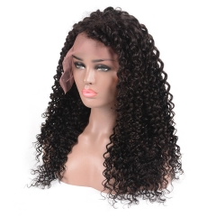250% High Density Deep Curly 7A Brazilian Hair Full Lace Human Hair Wigs for Black Women