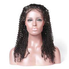 Kinky Curly Silk Top Human Hair Wigs Silk Base Full Lace Human Hair Wigs For Black Woman