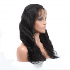 Malaysian Virgin Hair Full Lace Wigs Body Wave with Baby Hair
