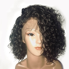 Curly Short Bob Fashion Lace Front Wigs Brazilian 100% Human Hair Wigs Culry lace Front Wigs With Pre Plucked Hairline For Black Women