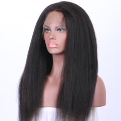 Kinky Straight 250% High Density Lace Wigs Full Lace Human Hair Wigs For Black Women