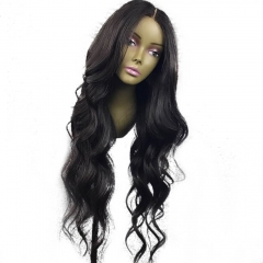 "4.5"" Super Deep C Side Part Pretty Long Wavy Casual Hairstyles Lace Front Wigs Pre Plucked"