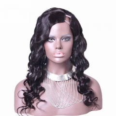Body Wavy Burmese Virgin Human Hair Eva Wigs U Part Wigs Hairstyles 8-24 in stock