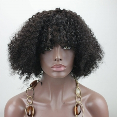 Kurze Afro Kinky Curly 260% High Density 100% brasilianisches reines Menschenhaar verworrenes lockiges 14 Zoll