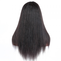 8A Grade Italian Yaki Straight Glueless Full Lace Human Hair Wigs For Black Women 7A Malaysian Virgin Hair Lace Frontal Wig