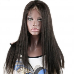 Malaysian Lace Front Human Hair Wigs For Women Natural Black Pre Plucked With Baby Hair Natural Color 130% Density