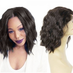 "Natural Wavy Short Bob Brazilian Virgin Hair U Part Human Hair Wigs 8-24"" in stock"