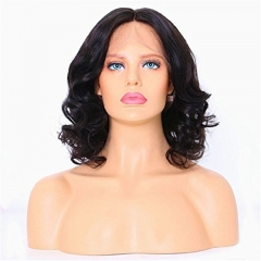 Eseewigss Brazilian Remy Human Hair 13X6 Deep Part Lace Front Wigs Glueless Short Bob Full Lace Wig Layered Wavy Hairstyle Lace Wigs With Baby Hair