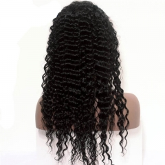 250% Density lace Wigs Deep Wave Pre-Plucked Natural Hair Line Indian Hair Lace Wigs with Baby Hair for Black Women