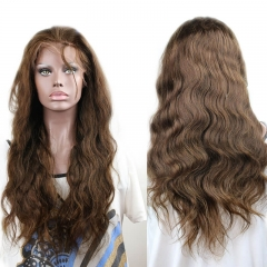 Full Lace Human Hair Wigs Pre-Plucked Body Wave 250% Density Wig Natural Hair Line with Baby Hair #4 color