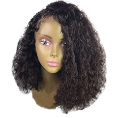 Curly Deep Parting 13x6 Lace Front Human Hair Wigs With Baby Hair For Black Women Malaysian Hair Natural Color