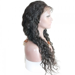 Affordable Full Lace Wig Deep Wave Brazilian Hair Pre Plucked with Baby Hair Long Wig for Women