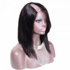 U Part Wig Bob Brazilian  Human Hair Virgin Hair U Part Wigs Straight 8-24 in stock