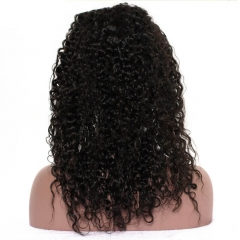 Silk Top Full Lace Wigs Hidden Knots Kinky Curly Pre-Plucked Malaysian Hair Human Hair Wigs
