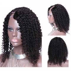 Cheap Kinky Curly Mongolian Virgin Human Hair U Part Wigs For Sale 8-24 in stock