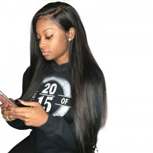 Straight Silk Top Full Lace Wig With Pre Plucked Hairline Human Hair Wigs with Baby Hair Silk Base Lace Wigs