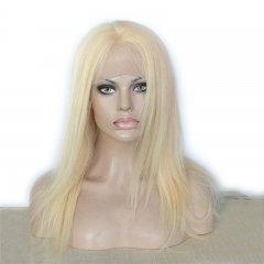 #613 Blonde Hair Full Lace Wigs Silky Straight Virgin Brazilian Hair Glueless Lace Wig
