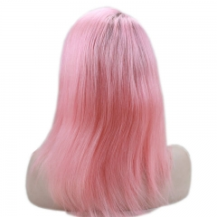1B T pink Ombre Lace Front Wig Color Real Human Hair Free Style Silky Straight New Arrive