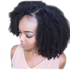 Kinky Curly 250% Density Full Lace Wigs Brazilian Virgin Hair Lace Front Human Hair Wigs Natural Hairline Afro Kinky Curly Lace Wigs